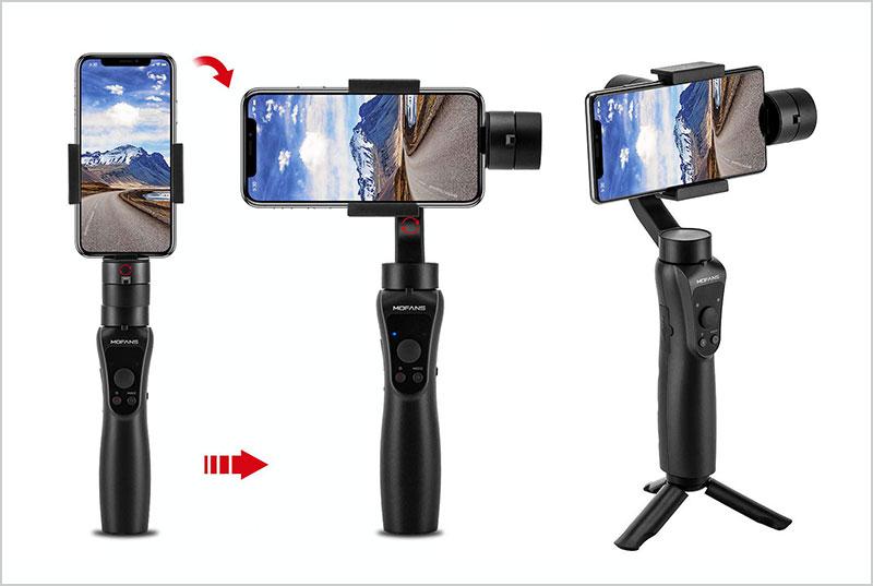 MOFANS-S5-3-Aixs-Handheld-Gimbal-Stabilizer-wTripod