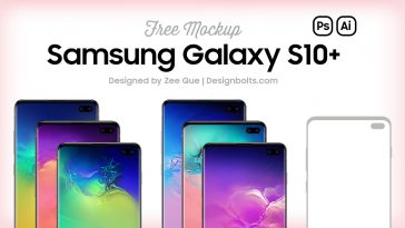 Free-Samsung-Galaxy-S10+-(Plus)-Mockup-PSD-&-Vector-Ai