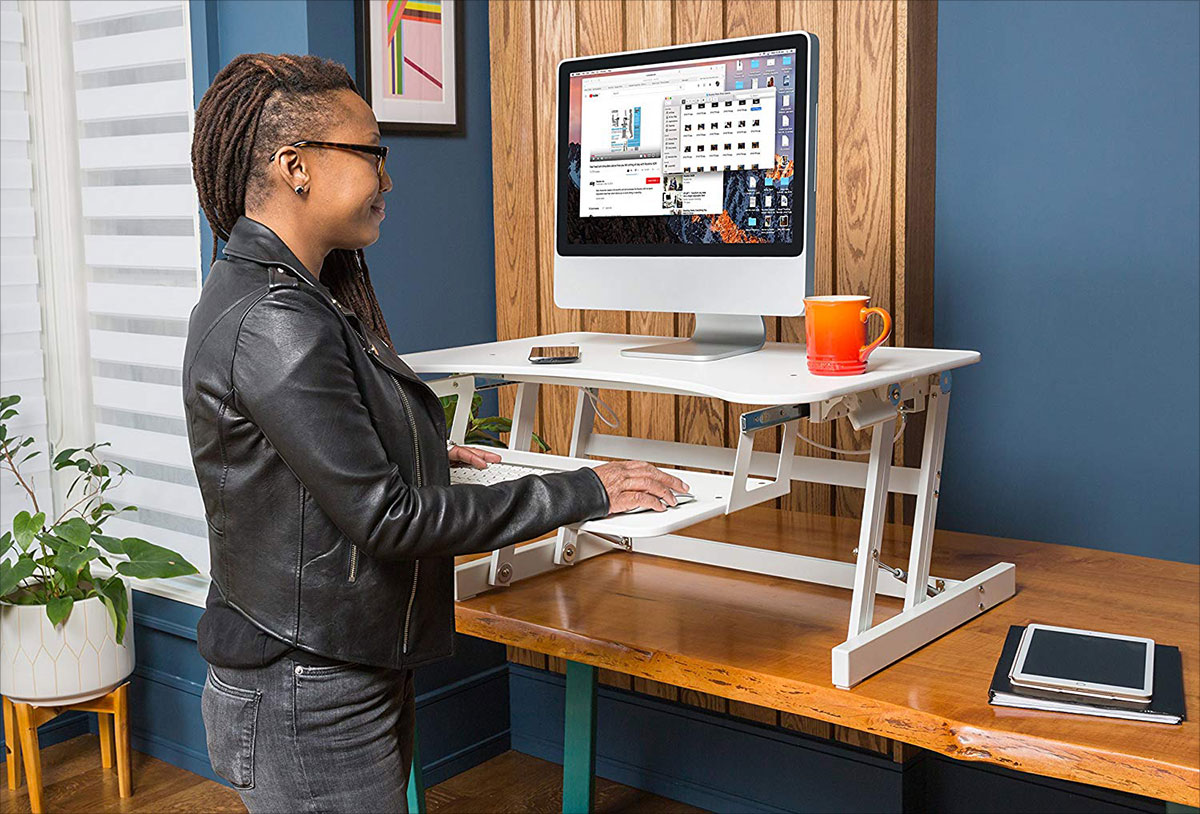 Rocelco-EADR-Deluxe-Ergonomic-Height-Adjustable-Sit-Stand-Desk-Computer-Riser