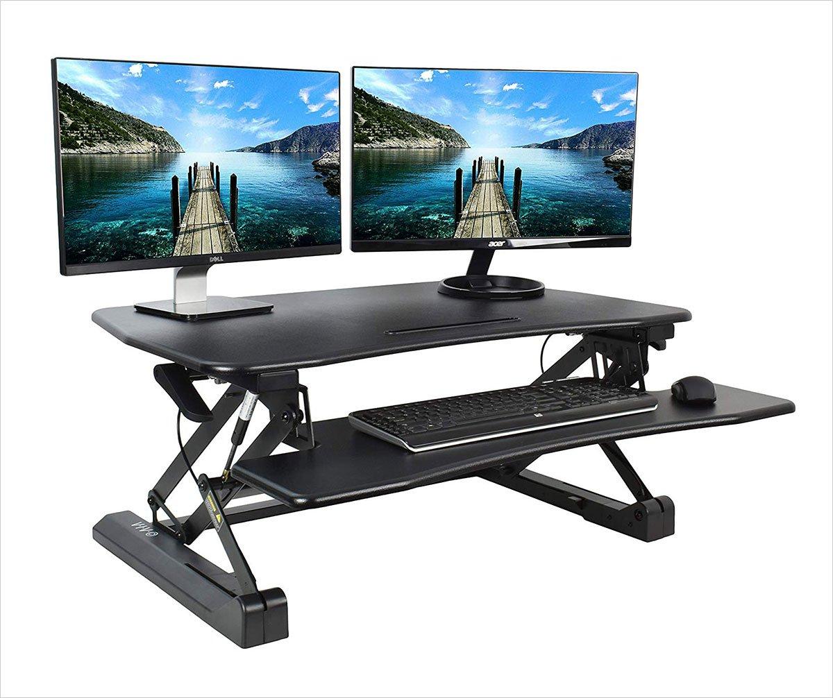 VIVO-Black-Deluxe-Height-Adjustable-Standing-Desk-36-inche-Tabletop-Monitor-Sit