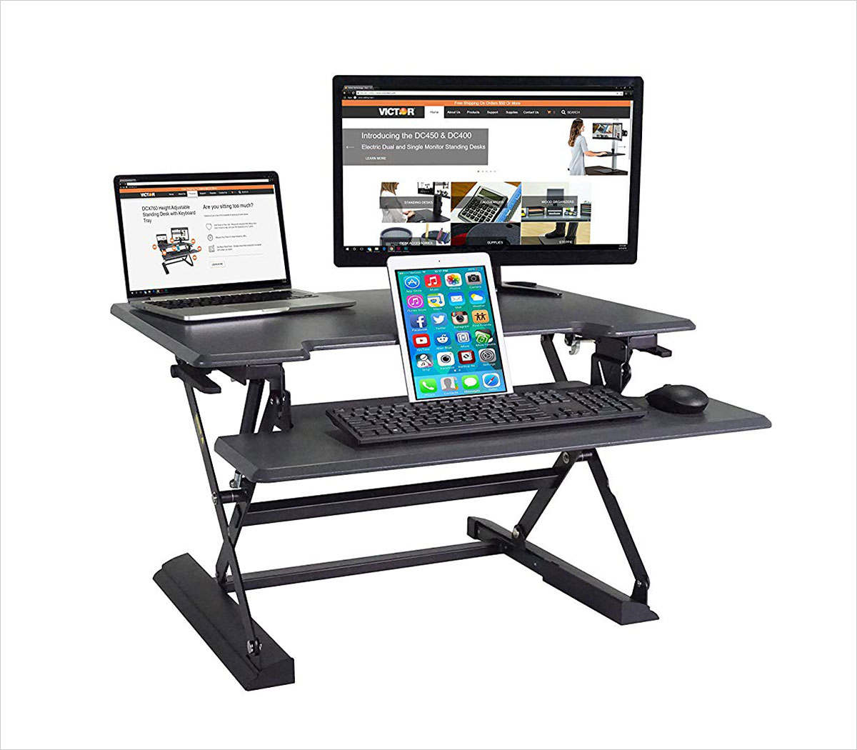 Victor-DCX710-High-Rise-Collection-Height-Adjustable-Standing-Desk-with-Keyboard-Tray