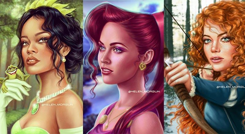 Digital Art Of Disney Princesses As Celebrities
