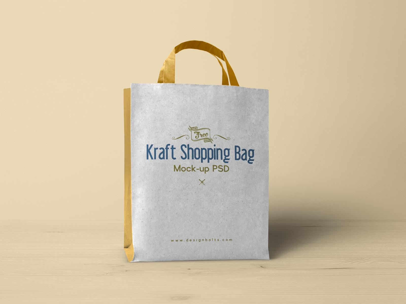 Free Kraft Paper Shopping Bag Mockup Psd Designbolts