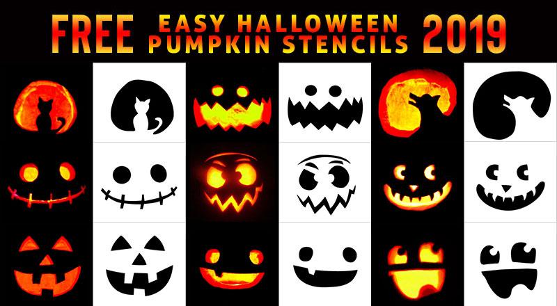 10 Very Easy Halloween Pumpkin Carving Stencils Ideas