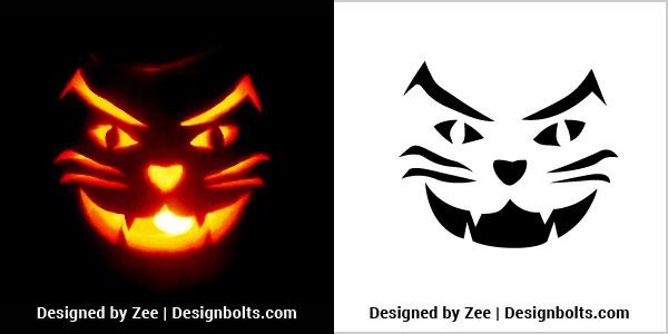 10 scary halloween pumpkin carving stencils ideas. Black Bedroom Furniture Sets. Home Design Ideas