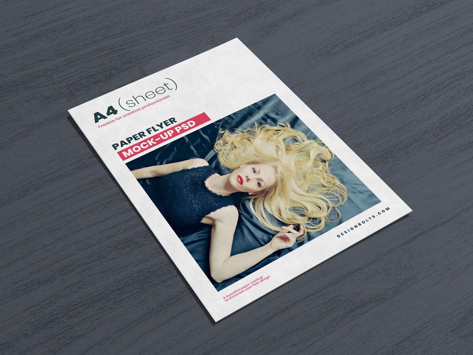 Free A4 Letter Us Flyer Mockup Psd Designbolts