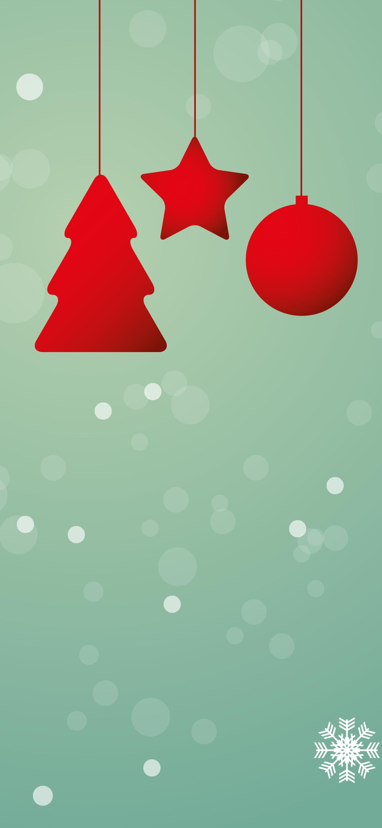 Christmas Ornaments iPhone 11 Pro Max Wallpaper 1