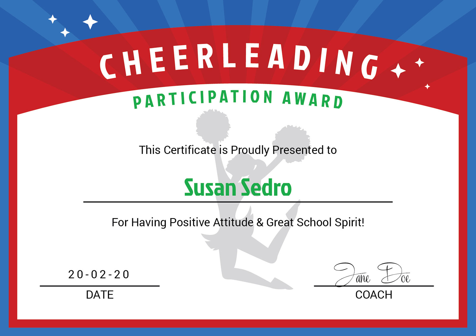 3 Free Cheerleader Award Certificate Design Templates In Ai Pdf Format Designbolts