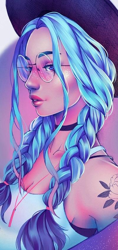 attaractive girl Samsung Galaxy Note 10 Wallpaper 2020