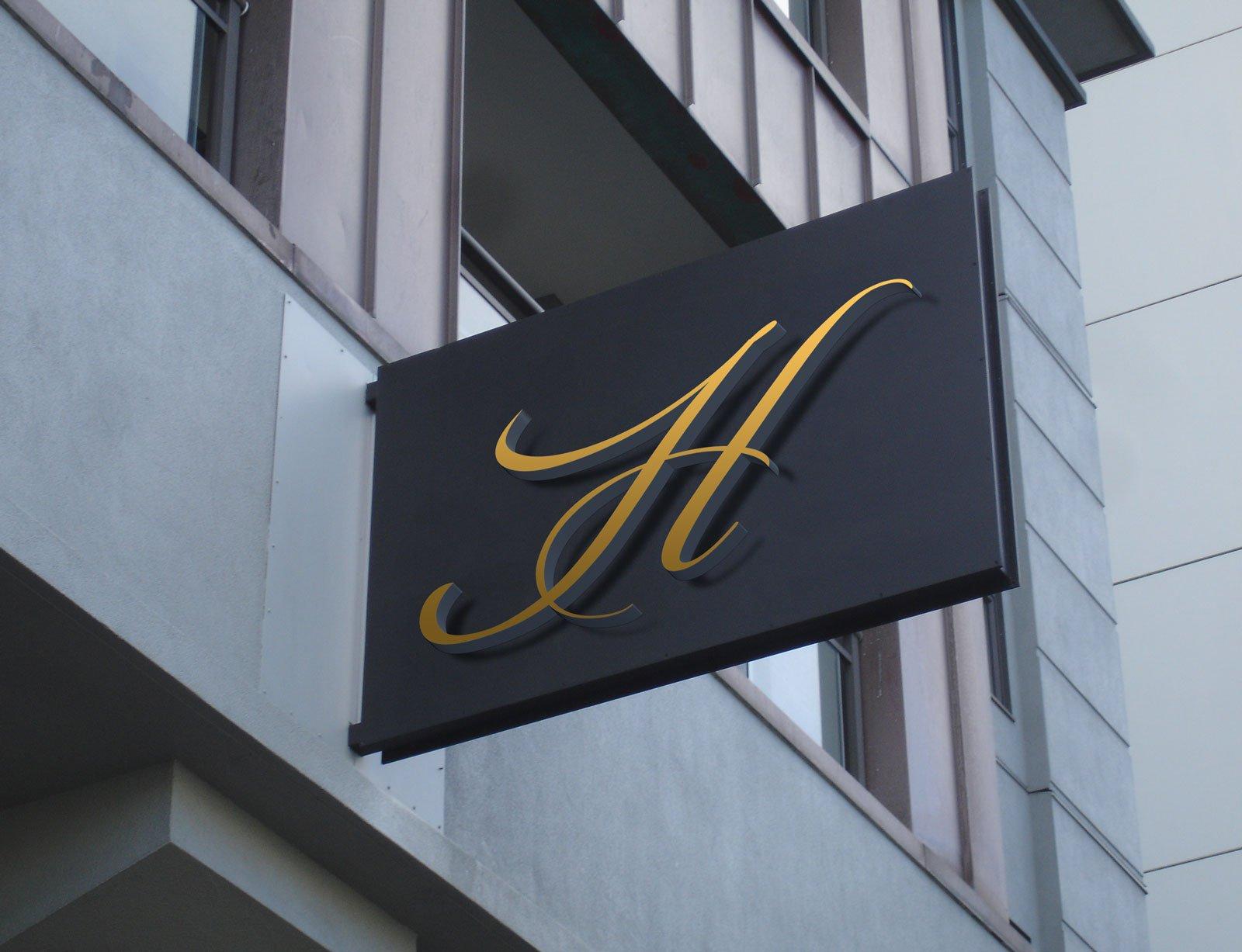 Free Hotel Wall Mounted Signage Mockup Psd Designbolts