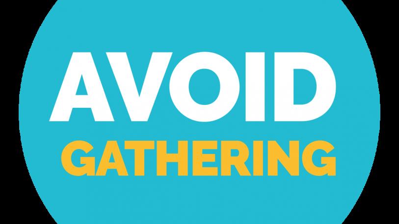Avoid Gathering Sign, Symbol, Badge, Icon & Sticker Printable Free Vector