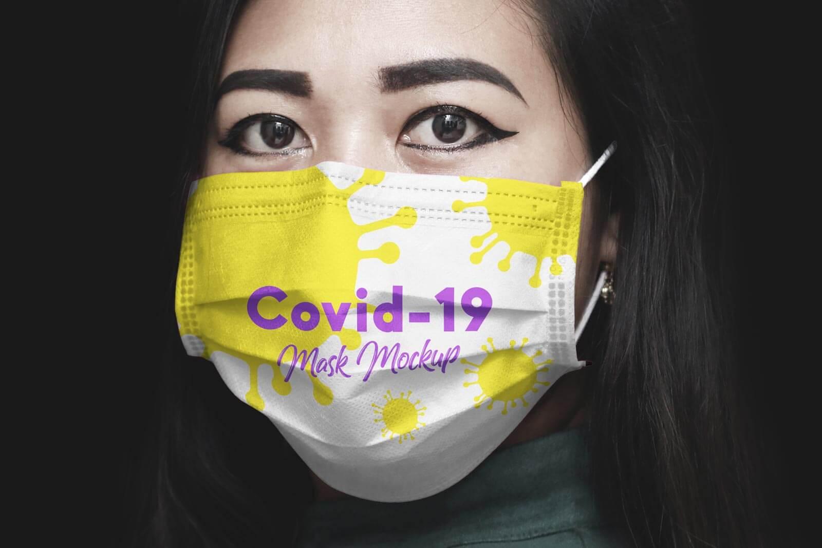 Free Coronavirus (Covid-19) Medical Face Mask Mockup PSD ...