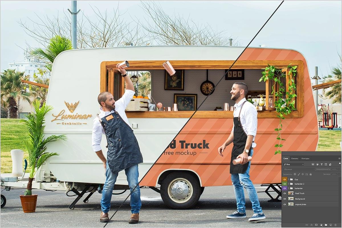 FREE-MOCKUP-Food-Truck-&-Two-bartenders