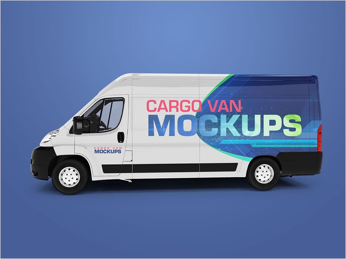 Free-Cargo-Express-Van-Vehicle-Branding-Mockup-PSD