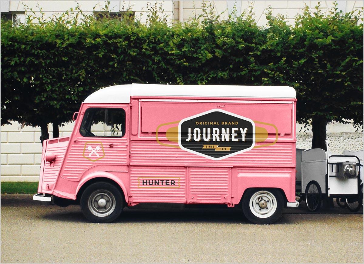 Free-Food-Van-Ice-Cream-Truck-Mockup-PSD