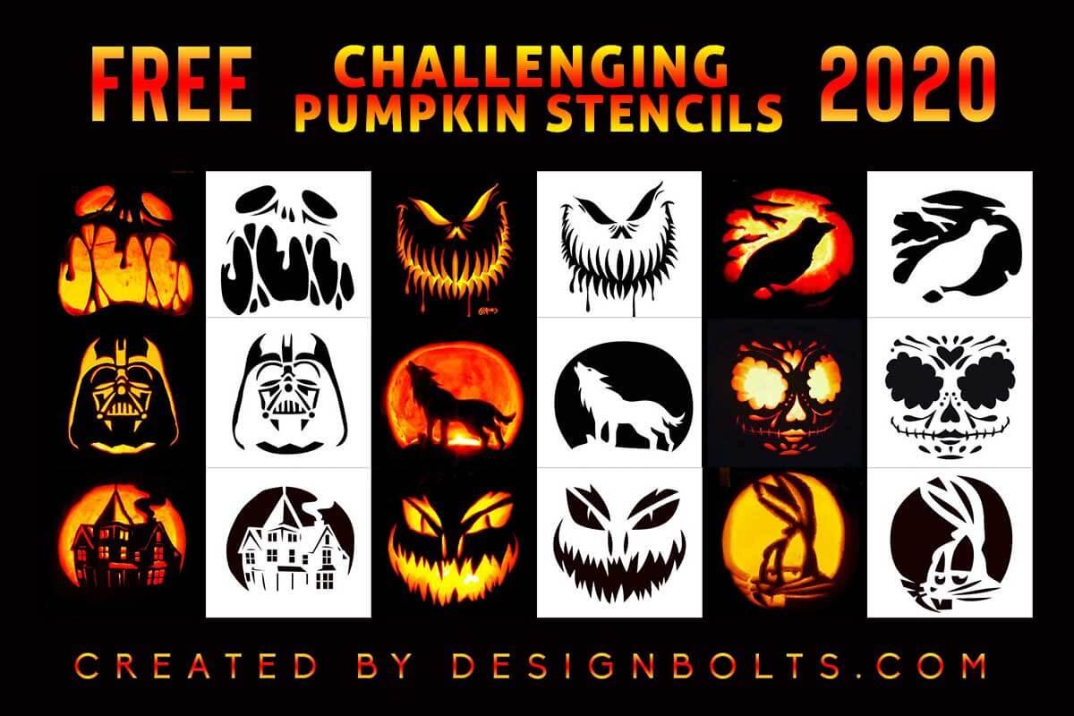 10 Challenging Pumpkin Carving Stencils Templates Patterns For Adults Designbolts