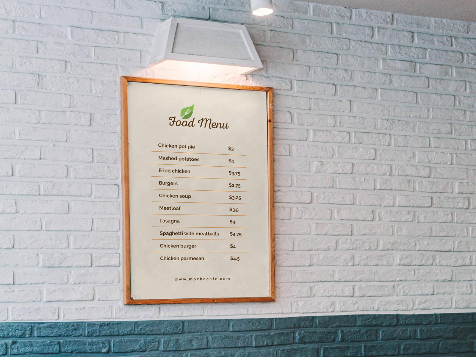 Free-Wall-Framed-Food-Restaurant-Menu-Poster-Mockup-PSD-2